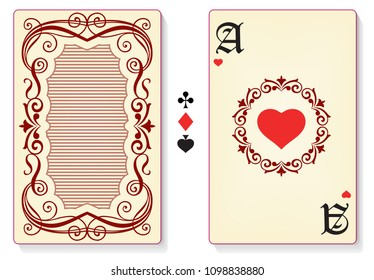 Playing card template.