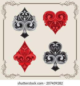 Playing Card Vintage Ornamental