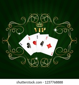 Playing cards aces vip design for gambling