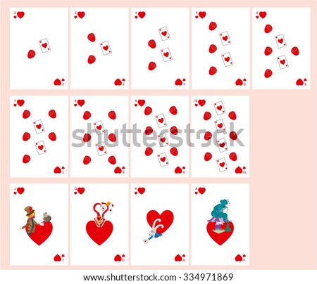Playing Cards Alice Wonderland Suit Patterns Vector de stock (libre ...