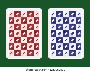 playing cards back side design vector set