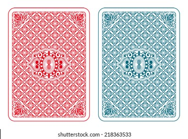 Playing cards back two colors - beta version