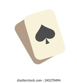 playing cards, cartoon flat style, color vector art illustration icon.