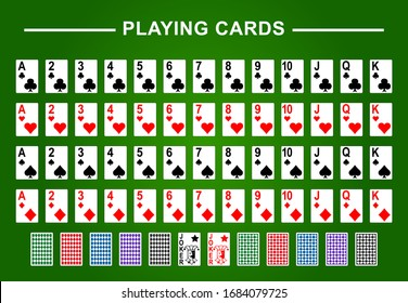 Playing cards full deck for poker