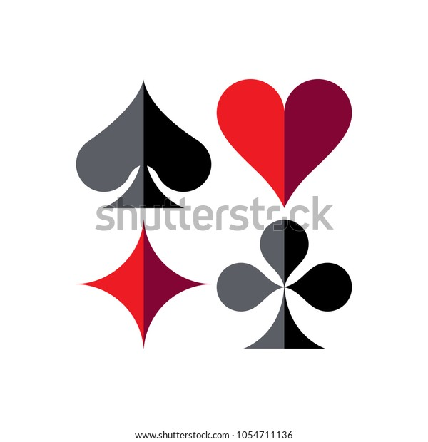 spade clover card  Playing Cards Game Symbols Isolated Spade Stock Vector ...