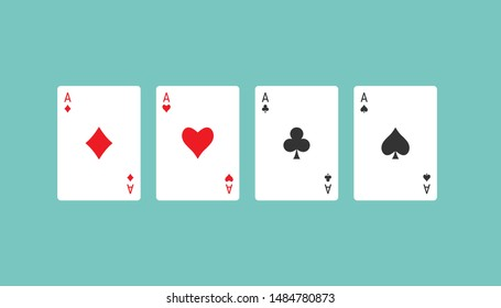 Playing cards icon. Vector illustration, flat design.