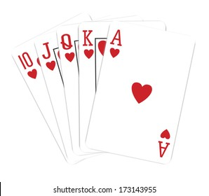 Playing cards, isolated on white background