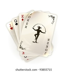 Playing cards with a joker, 10eps