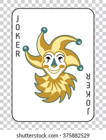 Playing cards with the Joker from a deck of playing cards. Vector illustration, classic design.