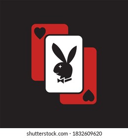 playing cards, poker, playboy, love,  vector illustrations