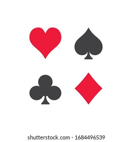 Playing cards suit icon vector on white background