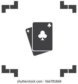 Playing cards vector icon. Poker sign. Blackjack symbol