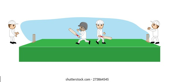 Boy Play Cricket Stock Vectors Images Vector Art