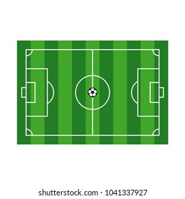 Playing Field Vector Template Design