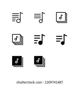 Playlist Icon Logo Vector Symbol. Music Icon