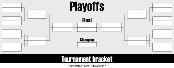 Playoff tournament brackets chart. Western,eastern conference. Vector Illustration