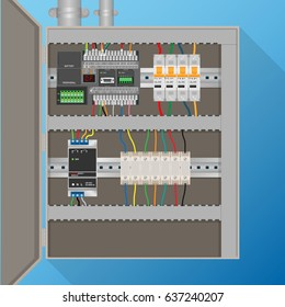 PLC Control system in electric cabinet