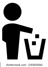 Please Dont Litter Vector Icon
