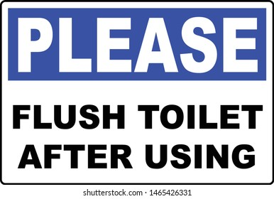 please flush after using toilet