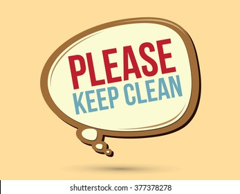 Please keep clean text in balloons graphic vector.