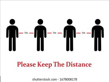 por favor mantenga la distancia vectoral