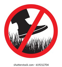 Please keep of the grass sign