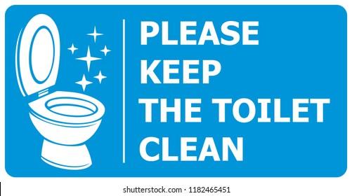 please keep toilet clean label
