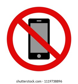 'Please silence your mobile phone' vector icon on isolated background. Variant No. 3