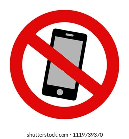 'Please silence your mobile phone' vector icon on isolated background. Variant No. 4