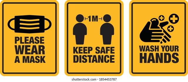 Please wear a mask signage Icon