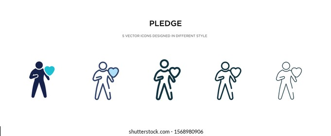 pledge icon in different style vector illustration. two colored and black pledge vector icons designed in filled, outline, line and stroke style can be used for web, mobile, ui