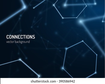 Plexus connections background. Vector eps10. Can be used as communications or technology, science concepts.