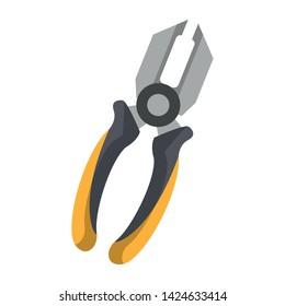 plier equipment tool icon cartoon isolated vector illustration graphic design