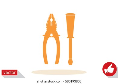 pliers and screwdrivers icon vector illustration EPS 10.