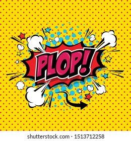 Plop! Comic Speech Bubble, Cartoon. art and illustration vector file.