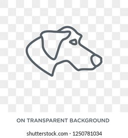 Plott Hound dog icon. Trendy flat vector Plott Hound dog icon on transparent background from dogs collection. High quality filled Plott Hound dog symbol use for web and mobile