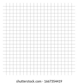 Plotting, measurement, blueprint pattern. Intersecting lines. Graph paper pattern. Crosshatch, checker lines as rulers for drafting. Cellular crossing lines, guidelines. Squared graph paper
