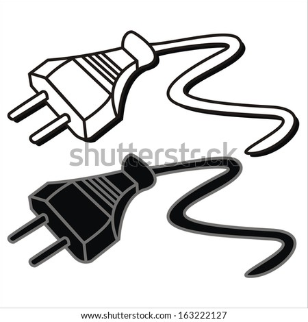 Plug Stock Vector Royalty Free 163222127