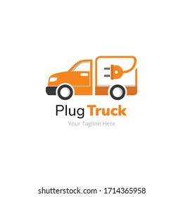 Plug Electric Delivery Truck Logo Design
