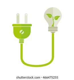 plug energy power, isolated flat icon design