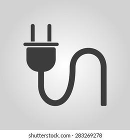 The plug icon. Electric symbol. Flat Vector illustration