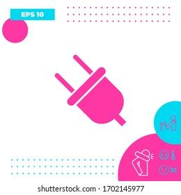 Plug icon symbol. Graphic elements for your design