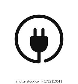 Plug icon vector. Electric plug sign