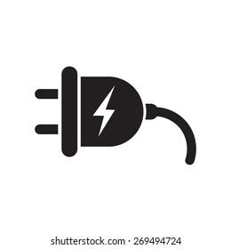Plug icon, vector illustration