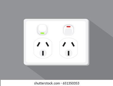 Plug socket type, vector illustration