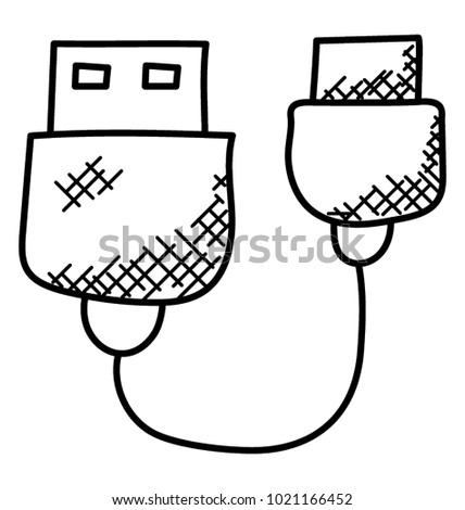 Plug Wire Cable Usb Computer Data Stock Vector Royalty Free