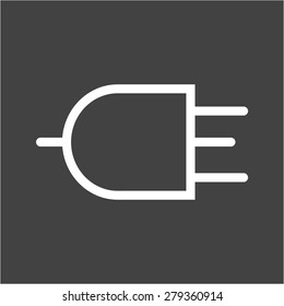 Plug, wire, three pin socket icon vector image. Can also be used for energy and technology. Suitable for web apps, mobile apps and print media.