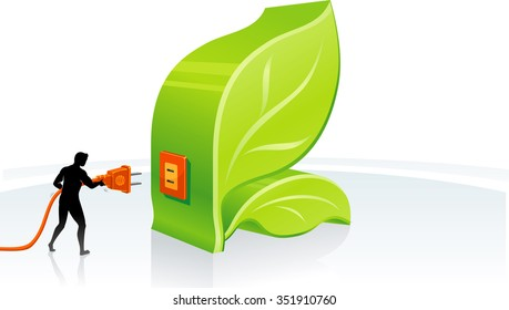 Plugging Ecology-Conceptual illustration of environment friendly power source