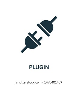 Plugin icon vector illustration. Creative sign from seo and development icons collection. Filled flat Plugin icon for computer and mobile. Symbol, logo vector graphics.