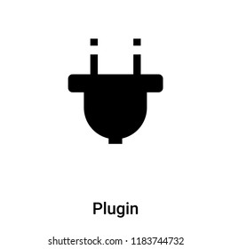 Plugin icon vector isolated on white background, logo concept of Plugin sign on transparent background, filled black symbol